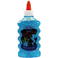 Elmers Голубой клей с блестками для слаймов объем 177 мл glitter glue blue