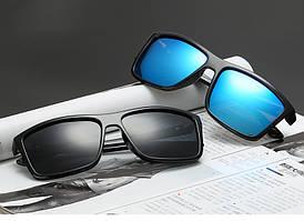 UVLAIK, мужские поляризованные солнцезащитные очки, брендовые, Ретро стиль, квадратные, для вождения