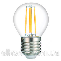 Лампа LED Vestum філамент G45 Е27 4Вт 220V 3000К