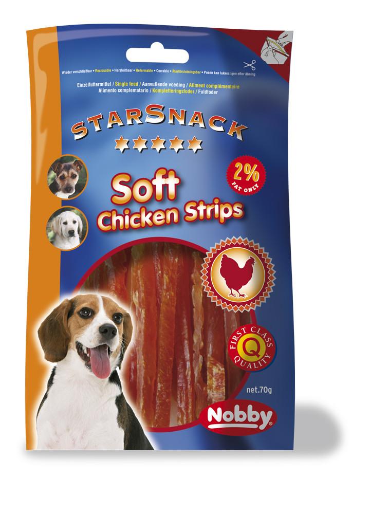 Лакомство для собак куриное филе Soft Strips 70 g