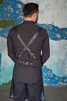 Фартук ( передник ) официанта , бармен  джинсовый черного цвета, фото 4