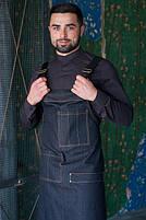 Фартук ( передник ) официанта , бармен  джинсовый черного цвета, фото 2