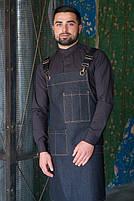Фартук ( передник ) официанта , бармен  джинсовый черного цвета, фото 3