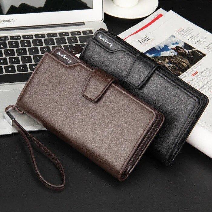 Мужской портмоне Baellerry business S1063 черный / кошелек / клатч