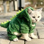 Одежда для домашних животных, костюм динозавра для котов, размер L