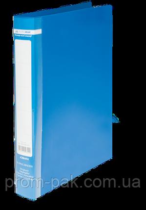 Папка на 2-х кільцях А4 JOBMAX, ширина торця 25 мм,синій, фото 2