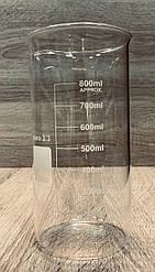 Стакан лабораторный высокий с метками 800мл , Boro 3.3