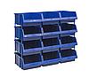 Односторонний пластиковый стеллаж 540-12 (Ш1020хД503хВ950мм) 12 ящиков