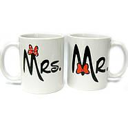 Чашки парные Mr. и Mrs.
