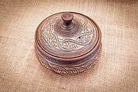 Супник глиняный ангоб 2 литра горшочек