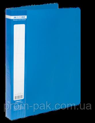 Папка з 40 файлами А4,JOBMAX,синій, фото 2