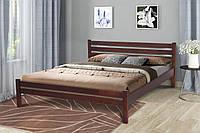 Кровать двухспальная деревянная Эко 160-200 см (темный орех)