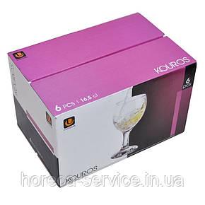 Бокал для вина средний на ножке Uniglass Kouros 0.220мл 12шт.упак, фото 2
