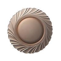 Тарелка Duralex Beau Rivage Créole, дымчатое стекло, Ø 23.5 см, (3001CF06)