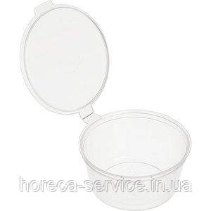 Соусник прозрачный АП 50 мл, с крышкой несъемной 80 шт упак, фото 2
