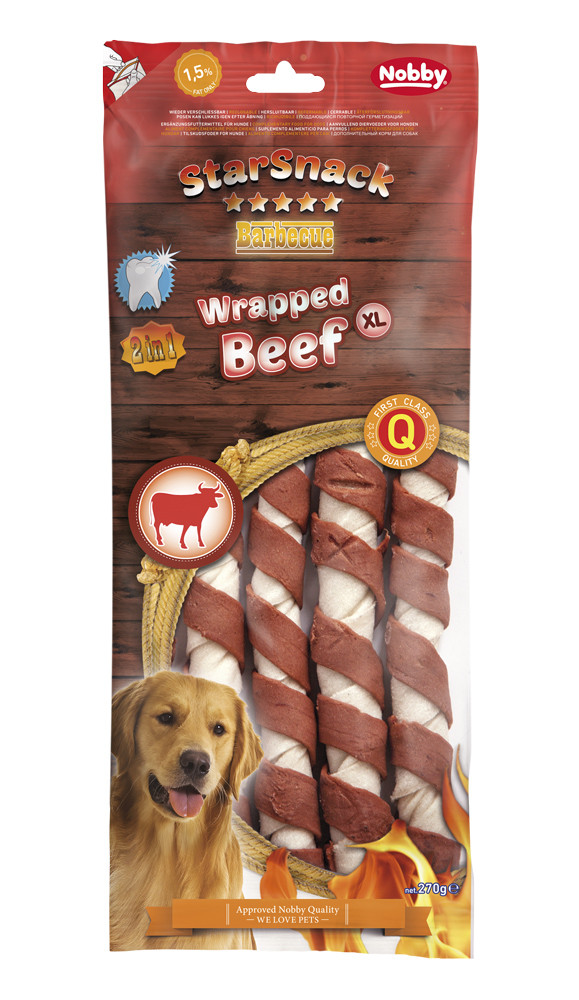 Лакомство для собак Wrapped Beef  XL 270 г