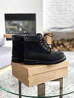 Ботинки женские демисезонные Timberland 6 inch premium black sne Тимберленд
