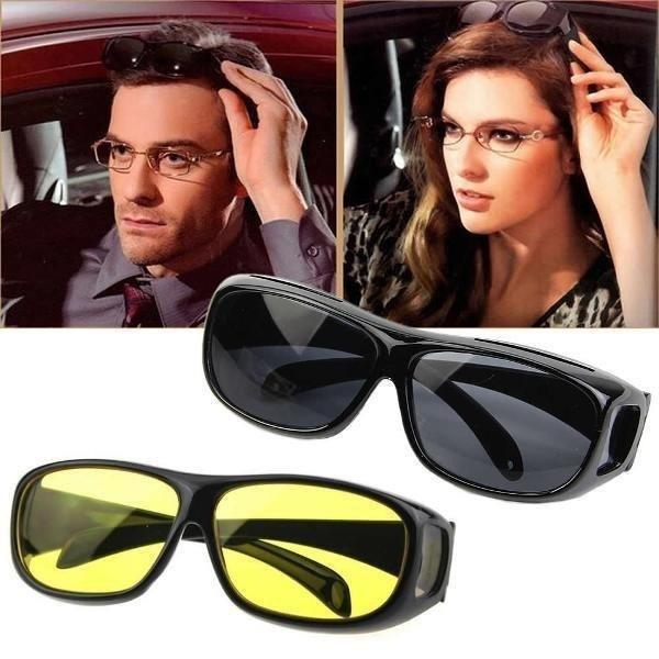 Антибликовые очки водителя для дневной и ночной езды HD Vision Glasses - очки антифары комплект 2штуки!