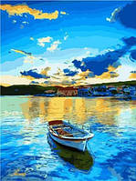 "Картина по номерам на холсте ""Лодка"" 40*50 см подарочная коробка 9465PH_B"