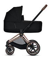 Коляска дитяча Cybex Priam Lux 2020 (2 в 1)  |  Black/Rosegold-Bronze