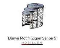 Набор столиков для десерта DUNYA MOTIFLI Zigon, 3 шт., Mobilgen, Турция