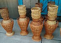 Красивая ваза из лозы