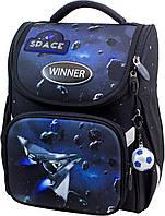 Рюкзак-ранец Winner Stile 2030 школьный ортопедический черно-синий
