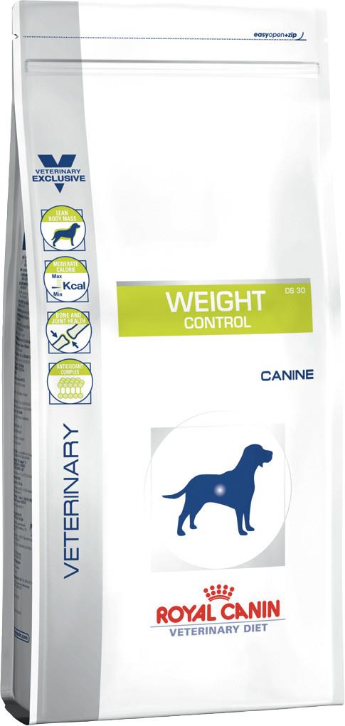 Сухой корм для собак Royal Canin Weight Control при ожирении и диабете 1,5 кг