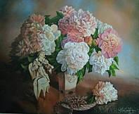"""Картина по номерам на холсте """"Цветы"""" 40*50 см подарочная коробка 5148Y_B"""