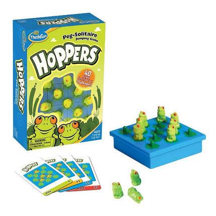 """Игра-головоломка Thinkfun """"Hoppers"""" (Лягушата), игровое поле, 40 карточек, 6703, фото 2"""