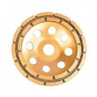 Диск CT-6180 Intertool для шлифовки бетона 180 х 22,2 мм сегментный, двухрядный