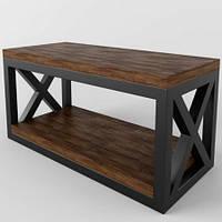 Кофейный журнальный столик в стиле LOFT (NS-648)