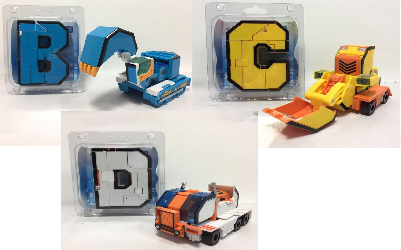 Трансформер-літери англійського алфавіту, 3 мікс, G2039-B/C/D