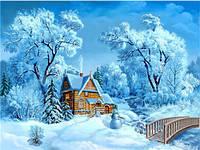 """Картина по номерам на холсте """"Зима за городом"""" 40*50 см 5249Y_O"""