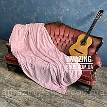 "Покрывало плед  - ""Шиншилла""  Размер: 220*240 см. Мягкое меховое покрывало. Цвет - Пудра."