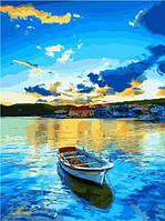 """Картина по номерам на холсте """"Лодка"""" 40*50 см 9465PH_O"""