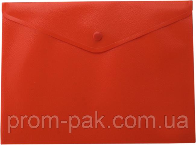 Папка-конверт А5 на кнопке,JOBMAX,красный