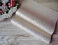 Эко кожа (кожзам) в крапинку - белая с золотом, лист 20 на 30 см. - 25 грн, фото 1