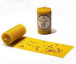 Свічка з вощини з суцвіттями і ефірним маслом лаванди (5 годин горіння), фото 2