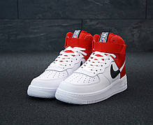 Кроссовки мужские Найк Nike Air Force White Red. ТОП Реплика ААА класса., фото 3
