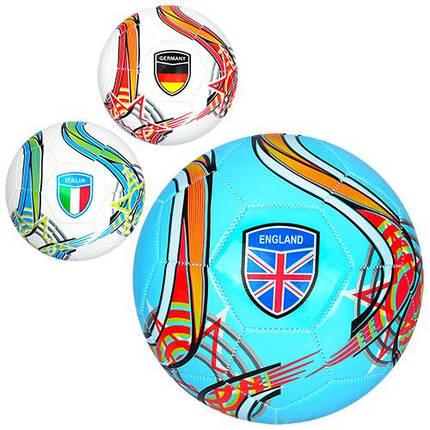 """М'яч футбольний """"Країни"""", 3 кольори, EV-3282, фото 2"""