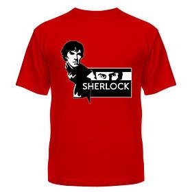 Летняя яркая футболка с рисунком Холмса недорого 100% хлопок