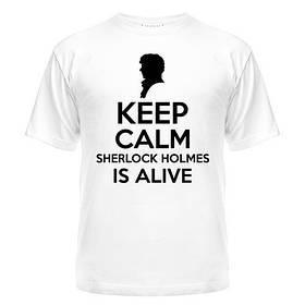 Футболка Keep calm Sherlock is alive