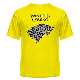 Летняя хлопковая футболка с рисунком Зима близко