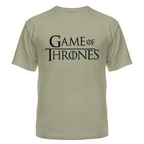 Мужская футболка короткий рукав с нанесением Game of Thrones logo