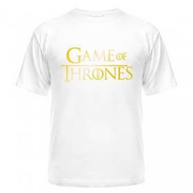 Футболки с надписями Game of Thrones gold недорого на заказ