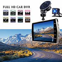 Видеорегистратор автомобильный 2K, парктроник 4', камера зеднего вида широкоуголная линза