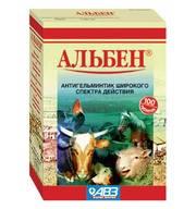 Альбен 100 таб. противоглистное средство для сельскохозяйственных животных.