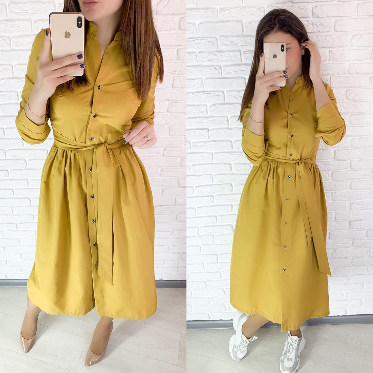 Длинное платье - рубашка