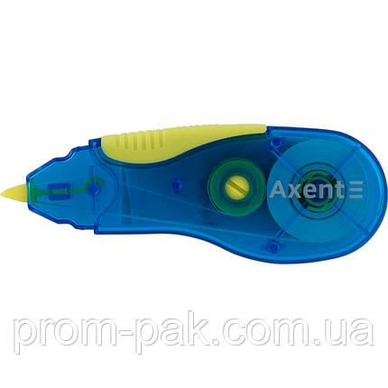 Коректор 7006-01ленточн 5мм*5м синьо-жовта AXENТ, фото 2
